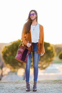 Navajo Style Tassel jacket Chaqueta de flecos Crimenes de la Moda