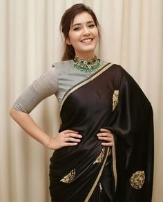 Bollywood,Tollywood news,events, actress gallery,photos Silk Saree Blouse Designs, Fancy Blouse Designs, Blouse Neck Designs, Black Saree Blouse, Lace Saree, Grey Blouse, Sari Dress, The Dress, Indian Designer Outfits