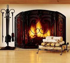 Fireplace Tool Set, Fireplace Screens, Cozy Fireplace, Living Room With Fireplace, Classic Fireplace, Fireplace Ideas, Fireplace Mantels, Virtual Fireplace, Online Fireplace