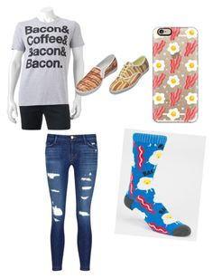 """""""BACON"""" by punkie707 ❤ liked on Polyvore featuring Casetify, Blue Crown and J Brand"""