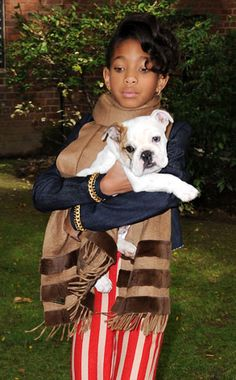 10.26.13 - Celebs and Their Dogs - Willow Smith