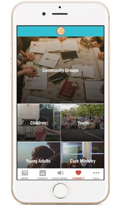 Church App - Beautiful Custom Mobile Apps for Churches Church App, Winter Camping, Mobile App Design, Small Groups, Ui Design, Planting, Apps, Community, Graphics
