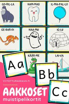Riimiparit: mikä sana ei kuulu joukkoon? - ViitottuRakkaus.fi Speech Therapy, Finland, Homeschool, Teacher, Comics, Games, Reading, Children, Peda