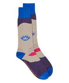 #perpedes This Navy & Khaki Humor Me Crew Socks is perfect! #zulilyfinds