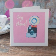 Say Cheese with the perfect blank greeting card by GabriellasShop