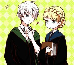 Jelsa [Elsa Ravenclaw and Jack Slytherin]