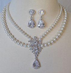Rhinestone Bridal Set by TheRedMagnolia