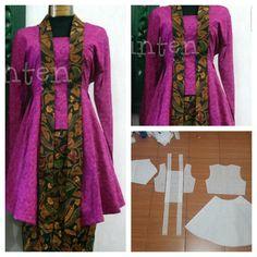 Kutu baru blouse pattern with peplum sides.  Order by click our link/line : modelliste  #modellistep - modellistepattern