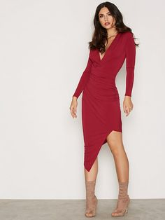 Low Plunge Drape Dress
