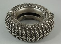 A tribal silver bracelet, Rajasthan, India, 19th century