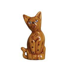 Escultura Média de Gato em Cerâmica. Este lindo gatinho vai deixar sua decoração cheia de vida e sofisticação.