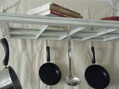 hanging kitchen rack