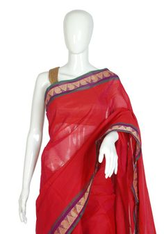 Chettinad Handloom Cotton Saree Design 27 – Desically Ethnic