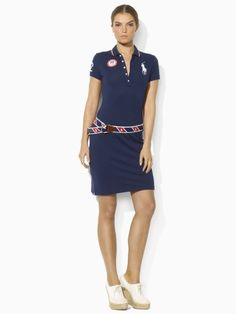 """Just released Ralph Lauren Olympic apparel, yes please! Why do more girls not wear this? Super hot. Kind of """"tennis."""""""