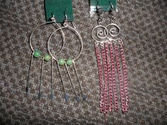 Handmade Earrings Set Of Two by dreamwvr81 on Etsy, $10.00