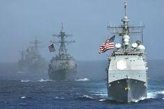 U.S. Navy-China showdown: Chinese try to halt U.S. cruiser in international waters - Washington Times