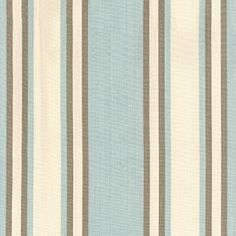 Seneca Cotton Stripe | 62984 in Aqua/Mocha | Schumacher Fabric