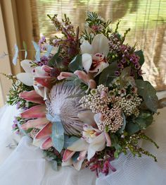 rustic natural flowers natives wedding cake - Google Search