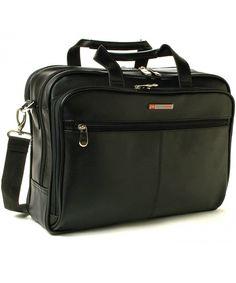 1e70c96594 Monroe Leather Briefcase Top-Zip Laptop Messenger Bag Black - Black -  CZ11QN8KHML
