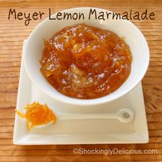 Refreshingly sweet and sour, a tad bitter and chewy from the rind, this is perfect — and perfectly easy — lemon marmalade. Lemon Marmalade, Marmalade Recipe, Jelly Recipes, Jam Recipes, Crock Pot Baked Potatoes, Meyer Lemon Recipes, Homemade Food Gifts, Fruit Jam, Jam And Jelly