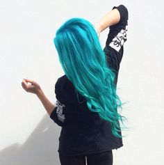 Should you appreciate great beautiful hair an individual will enjoy this website! Dip Dye Hair, Dye My Hair, Neon Hair, Aqua Hair, Turquoise Hair, Bright Hair Colors, Grunge Hair, Mermaid Hair, Cool Hair Color