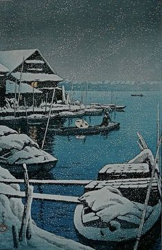 Kawase Hasui, Snow at Mukojima