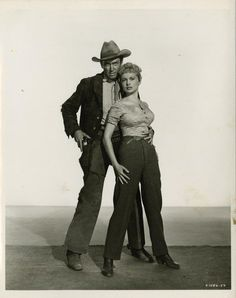 1953  Jimmy Stewart & Janet Leigh in The Naked Spur--decaying hollywood mansion's
