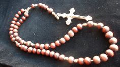 Rescued restored & recycled Catholic Rosary by LoveandReloved. SOLD.
