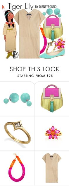 """""""Tiger Lily"""" by leslieakay ❤ liked on Polyvore featuring Bling Jewelry, The Volon, Alexandra Alberta, Polo Ralph Lauren, Via Pinky, disney, disneybound and disneycharacter"""