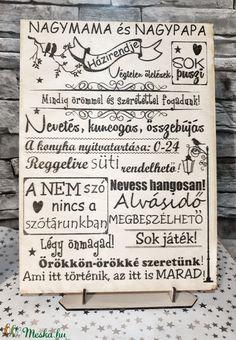 Nagymama és Nagypapa (ranyomlak) - Meska.hu Decoupage, Bullet Journal