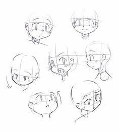 Q版人物动作的表情及体态绘画素材图片