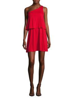Susana Monaco Allie One Shoulder Flared Dress