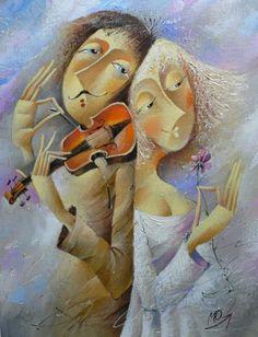 Melody. Painting by Ukrainian artist Yuri Matsik