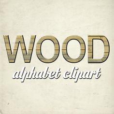 Wood Alphabet Clipart Printable Wood Letters by TheArtBoxDesigns