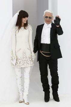 Kendall Jenner Isn't Karl Lagerfeld's Only Love - Karl Lagerfeld Chanel Couture Bride-Wmag