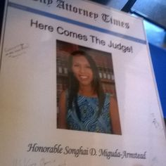 So happy to have attended tonight's event at Los Angeles City Hall for my college the Honorable Songhai Miguda-Armstead who was recently appointed to the bench by Governor Jerry Brown. Mike Feuer Catherine Clay Terry Lewis Herb J. Wesson Jr. Hector Manuel Ramirez #LosAngeles Los Angeles City Hall @herbjwesson