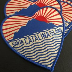 Beautiful new patches for Catalina Museum! Pantone Solid Coated, Pantone Color Match, Custom Patches, Clothing Patches, Patch Design, Artwork Design, Simple Shapes, Make Design, Cloth Diapers