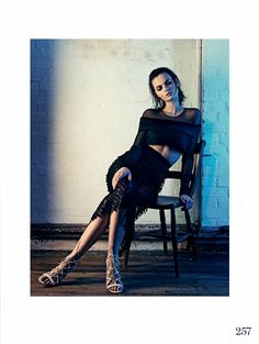 #MoaAberg by #AitkenJolly for #ElleUK April 2015