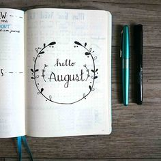 HELLO AUGUST! Like all other months in my Bullet Journal, August has its own front page! This month I kept it very simple with a few twigs with leaves. My cursive writing could still be better, however, I wouldn't know where to find the time to join the #Rockyourhandwriting challenge. So if anyone has tips, please let me know!