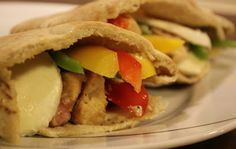 Pitabrød med kylling og bacon