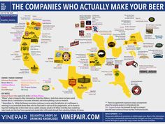 'The Companies Who Actually Make Your Beer', A Helpful Infographic Revealing the Big Businesses Behind 'Craft' Beers