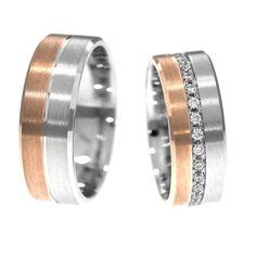 Perechea de verighete ATCOM Lux DANARIUS a fost obtinuta prin alaturarea unei benzi din aur alb si a uneia din aur galben, pentru un efect optic deosebit, care incanta privirea. Aur, Rings For Men, Wedding Rings, Engagement Rings, Jewelry, Enagement Rings, Men Rings, Jewlery, Jewerly