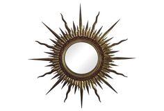 Large French Sunburst Mirror