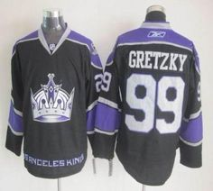 Kings  99 Wayne Gretzky Black Third Embroidered NHL Jersey- Los Angeles  Kings Jersey- NHL Jerseys d0f905ace