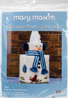 "Mary Maxim 19665 Snowman Tissue Box Plastic Canvas Kit-5"" 7 Count | eBay"