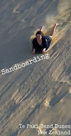 Sandboarding is an awesome and adventurous experience; even more so on the giant Te Paki Sand Dunes in Northland New Zealand. For more photos, and a read about our full adventure, visit the blog