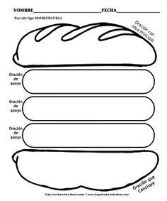 hamburguesa para escritura
