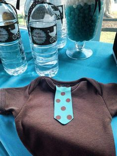 Turquoise & Brown baby Shower Baby Shower Party Ideas | Photo 6 of 39 | Catch My Party