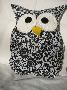 Hooters Stuffed Owl Pillow Fiona by sweetpitas on Etsy, $14.00