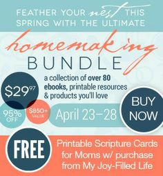 The Ultimate Homemaking Bundle Sale - My Joy-Filled Life